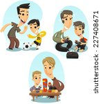 father and son playing bonding... | Shutterstock .eps vector #227408671