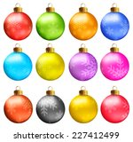 set of vectors   christmas... | Shutterstock .eps vector #227412499