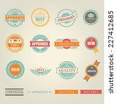 set of  colored emblems and... | Shutterstock . vector #227412685