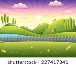 landscape vector illustration | Shutterstock .eps vector #227417341