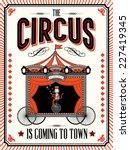 circus wagon template vector... | Shutterstock .eps vector #227419345
