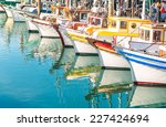 colorful sailing boats at... | Shutterstock . vector #227424694