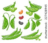 beans set. vector | Shutterstock .eps vector #227428945