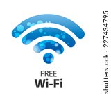 vector wifi symbol  free wifi | Shutterstock .eps vector #227434795
