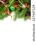 christmas background with balls ... | Shutterstock . vector #227437129