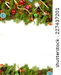 christmas background with balls ... | Shutterstock . vector #227437201