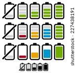 battery level or life indicator ... | Shutterstock .eps vector #227438191