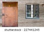 door and window  wooden... | Shutterstock . vector #227441245