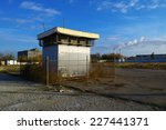 Small photo of air shaft building in autumn time