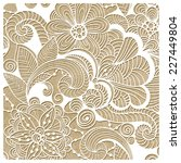 vector  winter lacy pattern ... | Shutterstock .eps vector #227449804