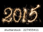 new year   2015 made a sparkler   Shutterstock . vector #227455411