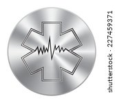 vector metal button with... | Shutterstock .eps vector #227459371