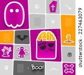 halloween flat infographic | Shutterstock .eps vector #227463079