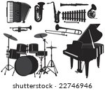 silhouette of various musical... | Shutterstock .eps vector #22746946
