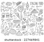 set of doodles  hand drawn... | Shutterstock .eps vector #227469841
