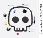halloween infographic   Shutterstock .eps vector #227479681