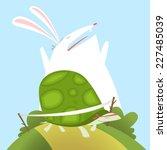 illustration the tortoise and... | Shutterstock .eps vector #227485039