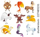 mythological creatures and... | Shutterstock .eps vector #227485231