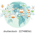 global connection | Shutterstock .eps vector #227488561