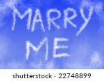 Marry Me Written In The Sky.