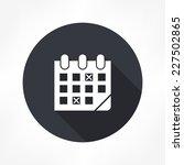 calendar icon | Shutterstock .eps vector #227502865