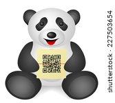 panda qr code on a white... | Shutterstock .eps vector #227503654