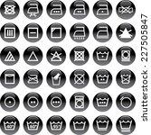 washing symbols | Shutterstock .eps vector #227505847