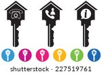 vector of house and key icons... | Shutterstock .eps vector #227519761