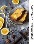Two Slices Of Citrus Cake On...