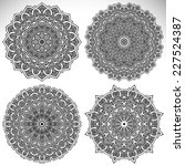 mandala. round ornament pattern.... | Shutterstock . vector #227524387