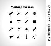 vector set of 16 flat working... | Shutterstock .eps vector #227536804