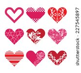 set of hearts for valentines... | Shutterstock .eps vector #227545897