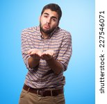portrait of a young man asking... | Shutterstock . vector #227546071