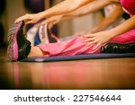 stretching pilate exercises in... | Shutterstock . vector #227546644