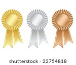 gold silver and bronze rosettes | Shutterstock .eps vector #22754818