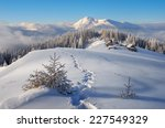 trail to the mountain huts.... | Shutterstock . vector #227549329