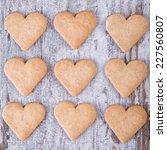 heart cookies  | Shutterstock . vector #227560807