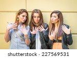 "Three Girls Making A ""nailfie""..."
