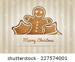 christmas vector wish card with ... | Shutterstock .eps vector #227574001