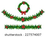 christmas vector garland from... | Shutterstock .eps vector #227574007