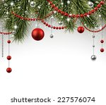 winter background with spruce... | Shutterstock .eps vector #227576074