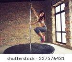 young pole dancer woman wearing ... | Shutterstock . vector #227576431