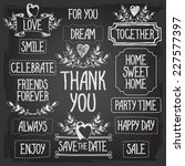 set of templates of words and... | Shutterstock .eps vector #227577397