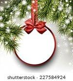 christmas paper card. winter... | Shutterstock .eps vector #227584924