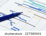project plan with pen | Shutterstock . vector #227585041
