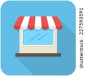 store icon  flat design with... | Shutterstock .eps vector #227593591