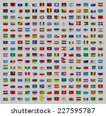 illustrated drawing of flags on ... | Shutterstock . vector #227595787