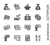 Money Icon Set  Vector Eps10.