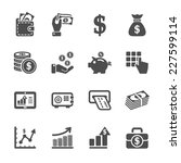 money and finance icon set ...
