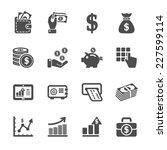 money and finance icon set ...
